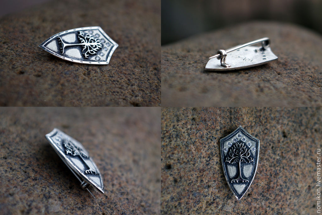 Brooch 'The Tree Of Gondor', Brooches, St. Petersburg,  Фото №1