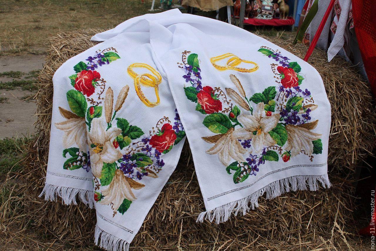 Рушник на свадьбу вышивка крестиком