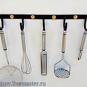 Для дома и интерьера handmade. Livemaster - original item Kitchen hanger with 5 hooks. Handmade.