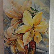 """Картины и панно ручной работы. Ярмарка Мастеров - ручная работа картина маслом """"Сказочный букет """"авторская работа. Handmade."""