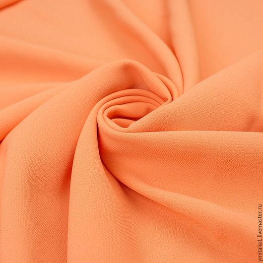 Шитье ручной работы. Ярмарка Мастеров - ручная работа. Купить Ткань вискозная кади   ARMANI коралловая. Handmade. Итальянские ткани
