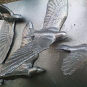 Для дома и интерьера ручной работы. Ярмарка Мастеров - ручная работа рельефное пано «птицы». Handmade.