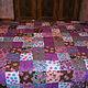 Текстиль, ковры ручной работы. Ярмарка Мастеров - ручная работа. Купить Покрывало пестрое 1. Handmade. Покрывало пэчворк