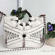 Сумки и аксессуары handmade. Livemaster - original item Anyuta linen bag. Handmade.