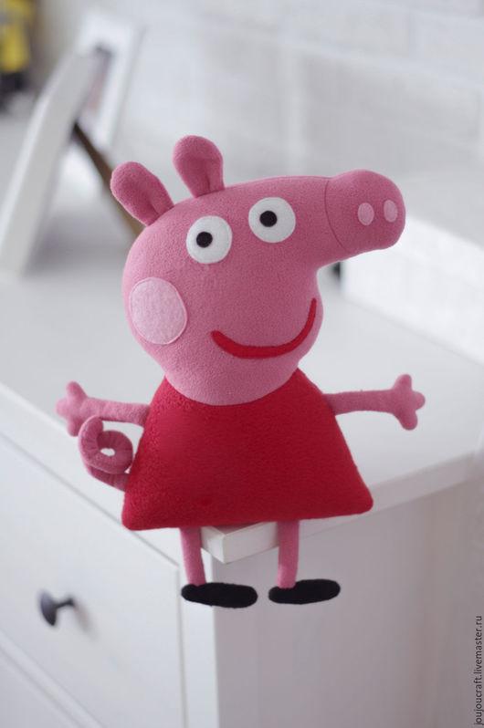 Сказочные персонажи ручной работы. Ярмарка Мастеров - ручная работа. Купить Свинка Пеппа (1:1 как в мультфильме!). Handmade. Розовый, свинка