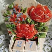 """Канцелярские товары ручной работы. Ярмарка Мастеров - ручная работа """"Розы на белом"""". Handmade."""