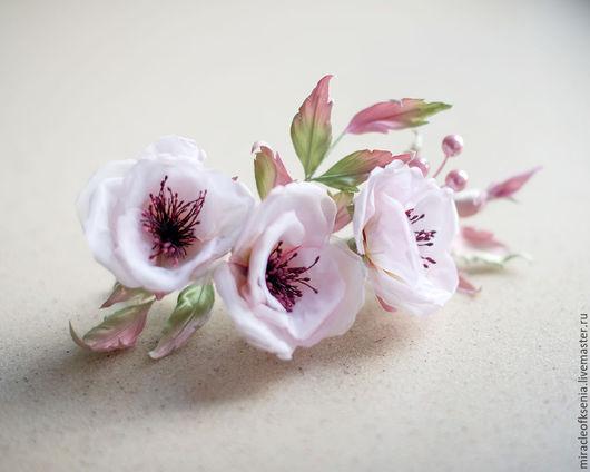 """Заколки ручной работы. Ярмарка Мастеров - ручная работа. Купить Нежнейшее Украшение """"Влюблённость"""".... Handmade. Бледно-розовый, шиповник"""
