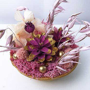 Цветы и флористика ручной работы. Ярмарка Мастеров - ручная работа Композиция мини «Розовый лес». Handmade.