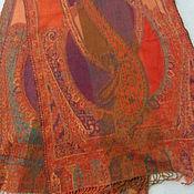 Винтаж handmade. Livemaster - original item Stole with Paisley pattern,100% wool,vintage India. Handmade.
