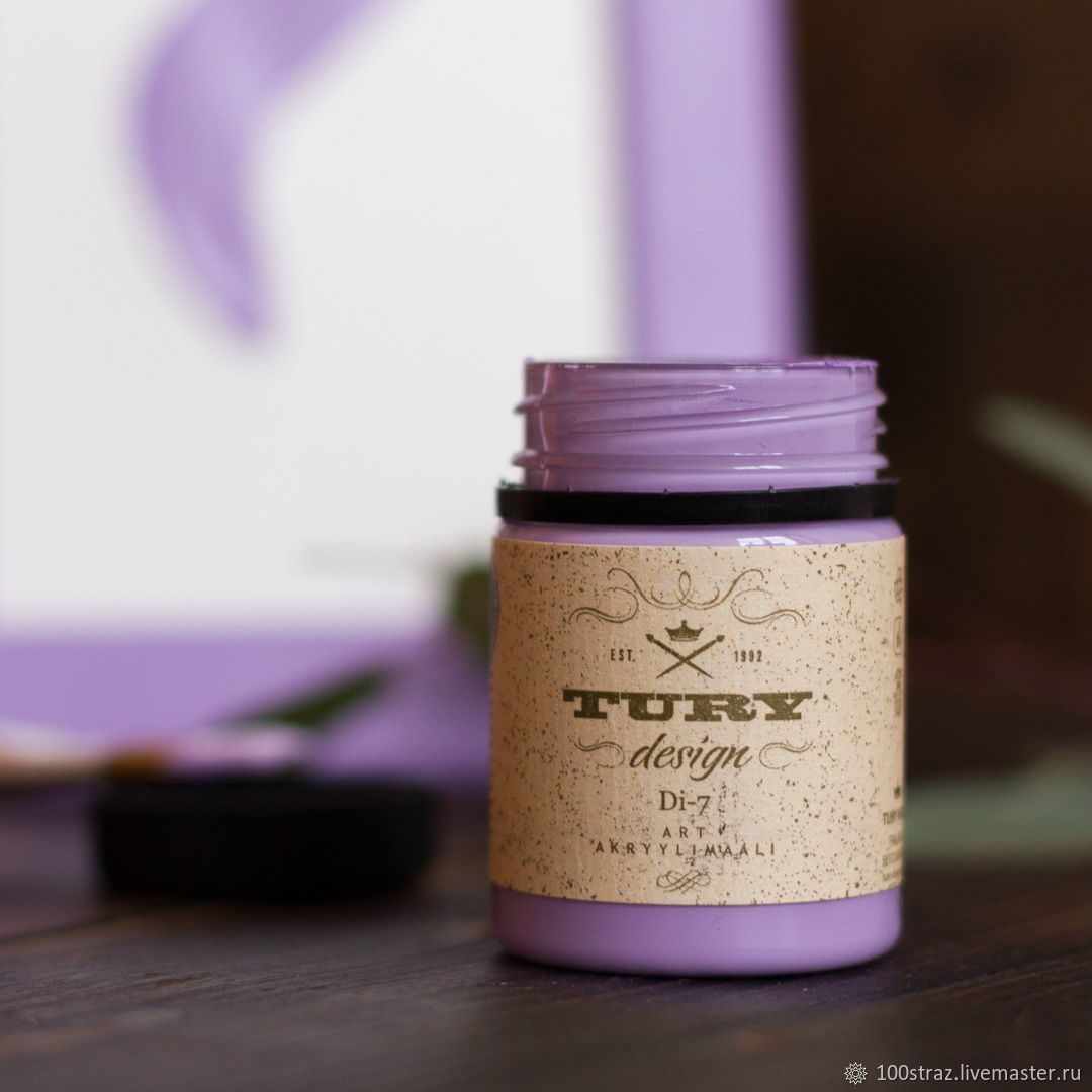 Lilac acrylic paint Tury Design Di-7 60 g  Code: 71-40