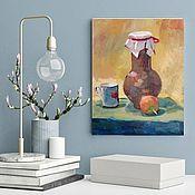 Картины и панно handmade. Livemaster - original item Oil Painting With A Jug Classic Still Life. Handmade.