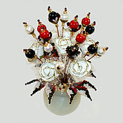 Цветы и флористика handmade. Livemaster - original item Flowers from agate, coral and pearls