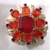 Винтаж handmade. Livemaster - original item Brooch VINTAGE USA 1960 vintage brooch rhinestone.. Handmade.