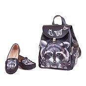 Обувь ручной работы handmade. Livemaster - original item Set of leather backpack and loafers