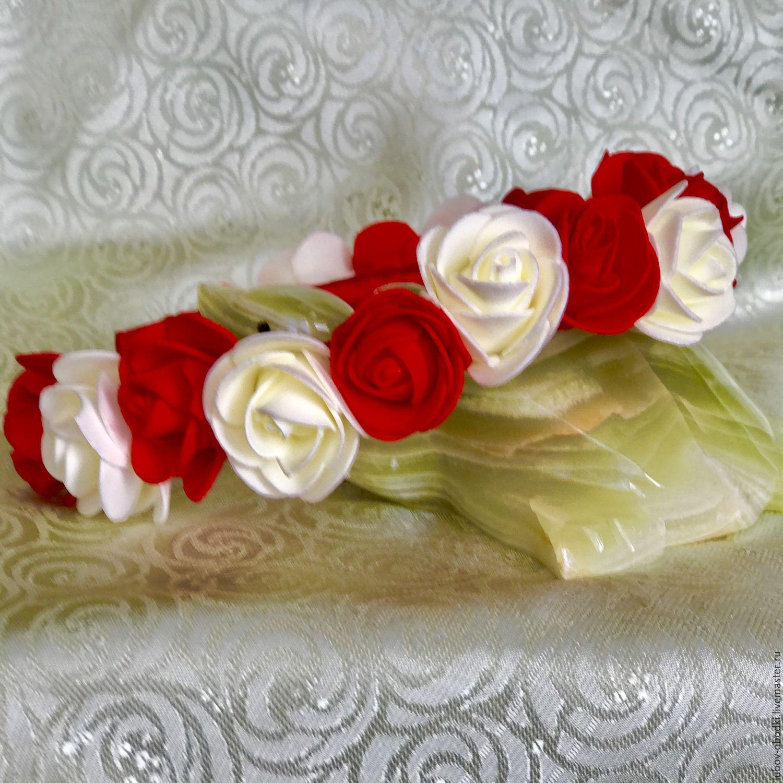 Ободок Красная роза , белая роза, Ободки, Химки,  Фото №1