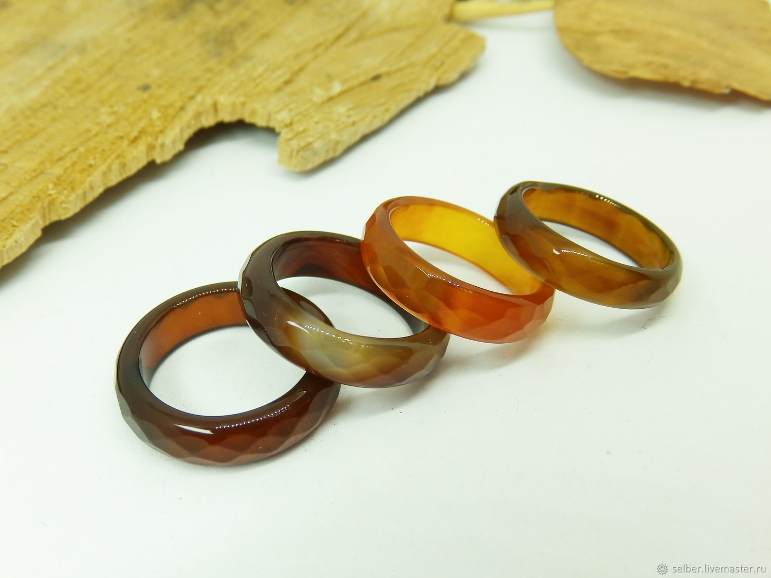 Ring of brown-red agate 17 R-R with cut, Rings, Gatchina,  Фото №1