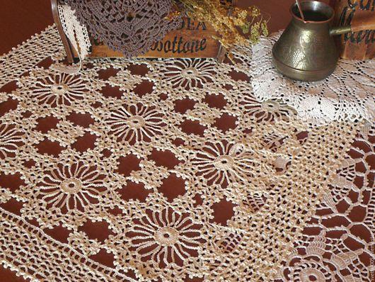 Текстиль, ковры ручной работы. Ярмарка Мастеров - ручная работа. Купить Салфетка Фермерская. Handmade. Белый, Салфетка вязаная, кружево
