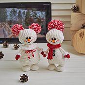 handmade. Livemaster - original item Snowman: Souvenir for new year`s decor. Handmade.