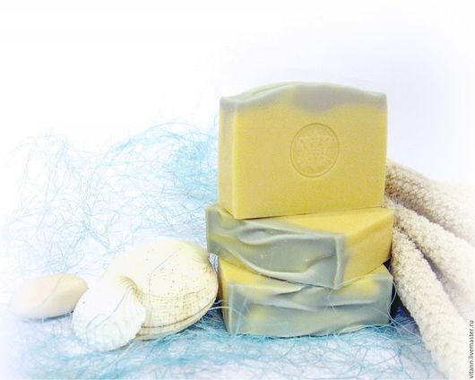 """Мыло ручной работы. Ярмарка Мастеров - ручная работа. Купить """"Морской бриз"""" натуральное мыло для мужчин. Handmade. Мыло с нуля"""