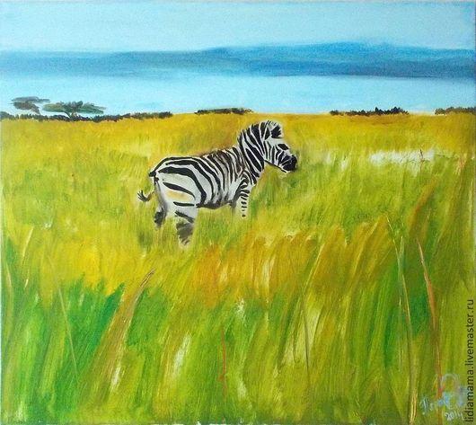 Картина. Воспоминания о Южной Африке. Зебра\r\nработа Ольги Петровской-Петовраджи