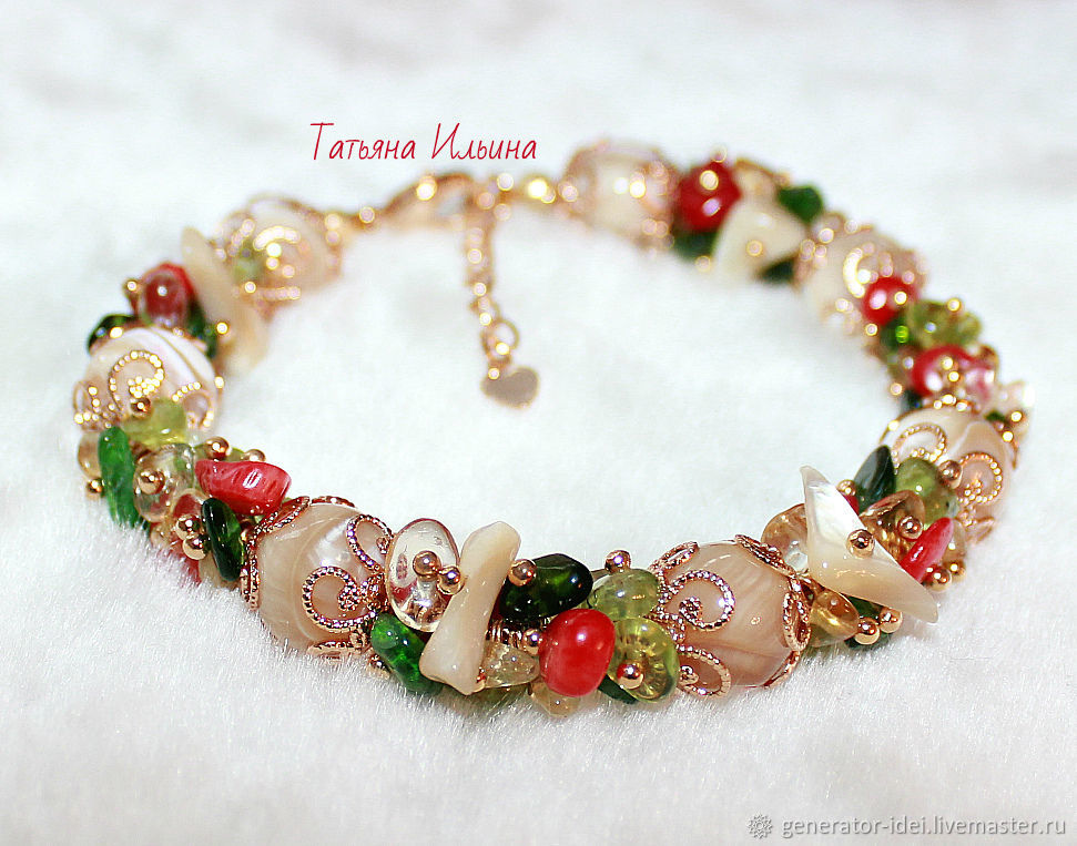 Bracelet made of natural stones 'Summer', Bead bracelet, Moscow,  Фото №1