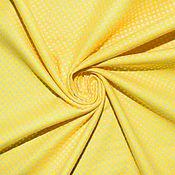 Материалы для творчества ручной работы. Ярмарка Мастеров - ручная работа Американский хлопок-фланель МЕЛКИЙ ГОРОШЕК на желтом фоне. Handmade.