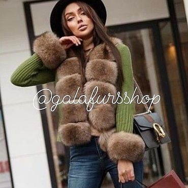 Clothing handmade. Livemaster - original item Cardigan jacket with Finnish Fox fur. Handmade.