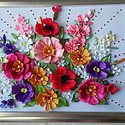 """Картины и панно ручной работы. Ярмарка Мастеров - ручная работа Картина""""Все цветы тебе одной"""". Handmade."""