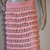 Одежда handmade. Livemaster - original item Crochet skirt Patricia. Peach charming handmade frilly skirt. Handmade.