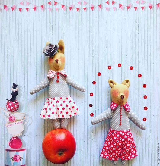 Куклы Тильды ручной работы. Ярмарка Мастеров - ручная работа. Купить малыши-циркачи. Handmade. Бледно-розовый, зверята, малышам