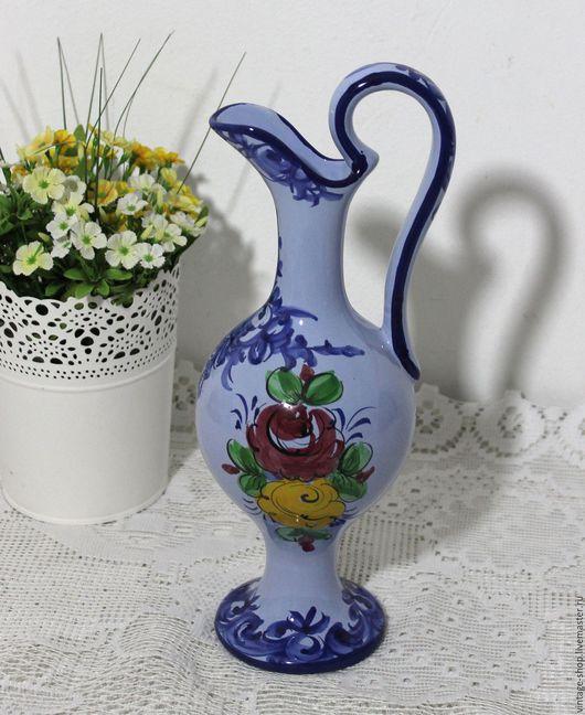 Винтажная посуда. Ярмарка Мастеров - ручная работа. Купить Керамический кувшин, ручная роспись, Португалия. Handmade. Синий, для интерьера