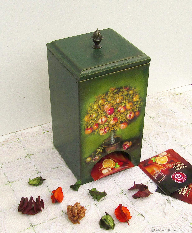 Чайный домик Гранатовое деревце, Короб для чайных пакетиков, Домики, Химки, Фото №1