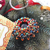 """Украшения ручной работы. Ярмарка Мастеров - ручная работа Брошь плетеная """"Новогодний петушок"""". Handmade."""