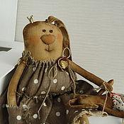 """Куклы и игрушки ручной работы. Ярмарка Мастеров - ручная работа Зая  в платье """"горох"""". Handmade."""