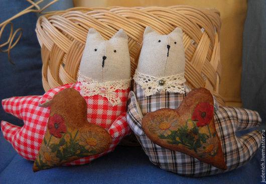 Игрушки животные, ручной работы. Ярмарка Мастеров - ручная работа. Купить Поздравительный кот. Handmade. Тильда кот, по желанию