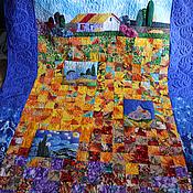 """Для дома и интерьера ручной работы. Ярмарка Мастеров - ручная работа Одеяло """"Пейзажи Ван Гога-3"""". Handmade."""