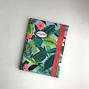 Канцелярские товары ручной работы. Ярмарка Мастеров - ручная работа Обложки для паспорта Тропические мотивы Листья. Handmade.