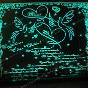 Свадебный салон ручной работы. Ярмарка Мастеров - ручная работа Сувенир, гравировка Влюбленные голубки. Handmade.