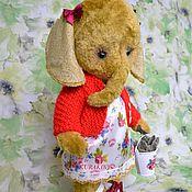 Слоник-Тедди - Маюша 33 см, застенчивая девочка, подарок дочери
