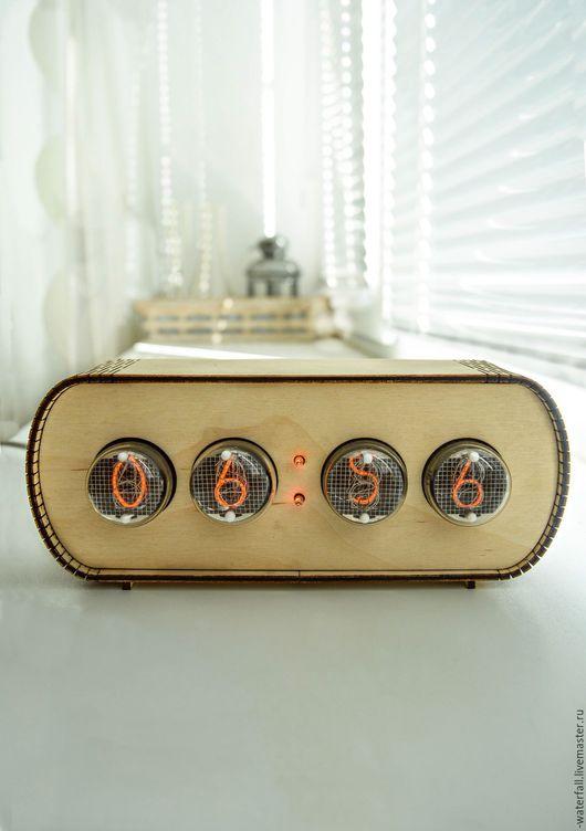 Часы для дома ручной работы. Ярмарка Мастеров - ручная работа. Купить Ламповые часы на 4-х газоразрядных индикаторах ИН-4. Handmade.