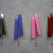 Материалы для творчества ручной работы. Ярмарка Мастеров - ручная работа Зажим, 6 см, металл, набор 10 шт, основа, заготовка, цветные. Handmade.
