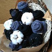 Сувениры и подарки handmade. Livemaster - original item Gift to a man a Bouquet of socks with cotton. Handmade.