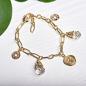 Украшения handmade. Livemaster - original item 24K gold-plated Clover Bracelet. Handmade.