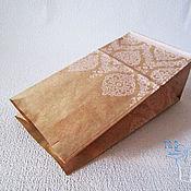 Материалы для творчества ручной работы. Ярмарка Мастеров - ручная работа Крафт пакеты, бумажный, с рисунком Кружева, 19х10х7, упаковка, пакеты. Handmade.