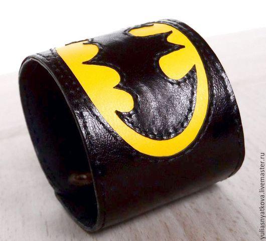 """Браслеты ручной работы. Ярмарка Мастеров - ручная работа. Купить Браслет """"Бэтмен"""".. Handmade. Разноцветный, браслет batman, браслет на заказ"""