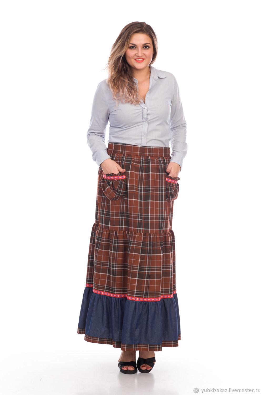 Skirt plaid boho Old America, Skirts, Novosibirsk, Фото №1