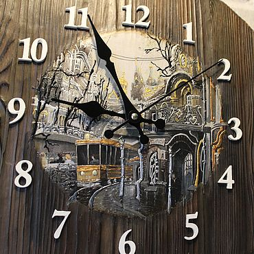 Для дома и интерьера ручной работы. Ярмарка Мастеров - ручная работа Часы настенные Старая Москва Часы на стену круглые большие. Handmade.