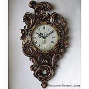 Для дома и интерьера handmade. Livemaster - original item carved wall clock. Handmade.