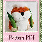 Куклы и игрушки handmade. Livemaster - original item Pattern PDF Plush Hamster. Handmade.