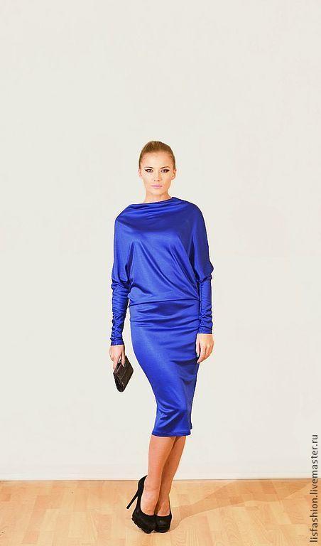 Платья ручной работы. Ярмарка Мастеров - ручная работа. Купить Платье Мелиса 4180855. Handmade. Синий, нарядное платье